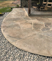flagstone in porch surround